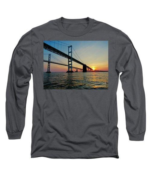 Bay Bridge At Sunset  Long Sleeve T-Shirt