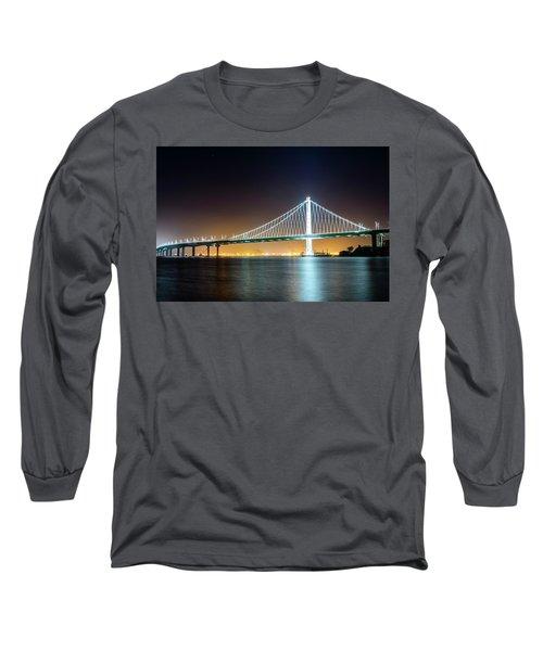 Bay Bridge East By Night 1 Long Sleeve T-Shirt