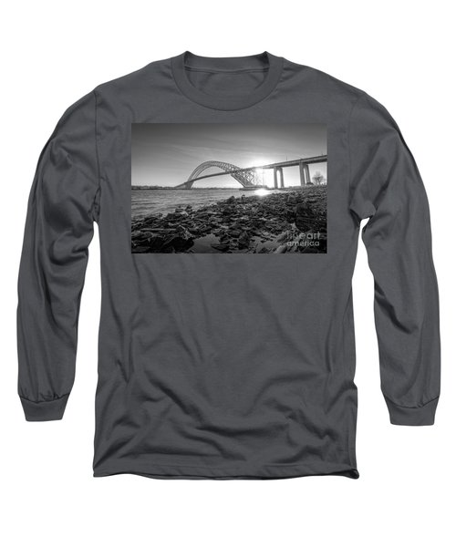 Bayonne Bridge Black And White Long Sleeve T-Shirt