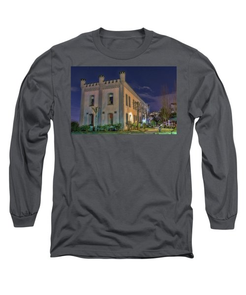 Long Sleeve T-Shirt featuring the mixed media B.c.penitentiary by Jim  Hatch