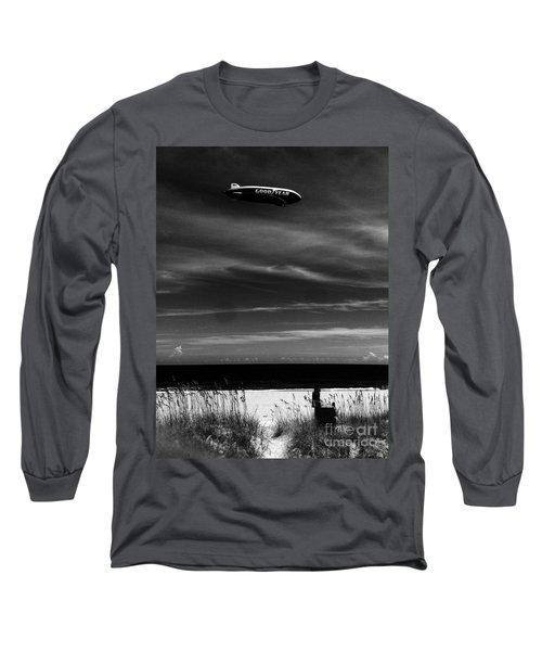 Beach Blimp Long Sleeve T-Shirt by WaLdEmAr BoRrErO
