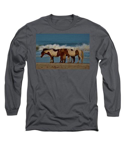 Beach Bum Ponies Long Sleeve T-Shirt
