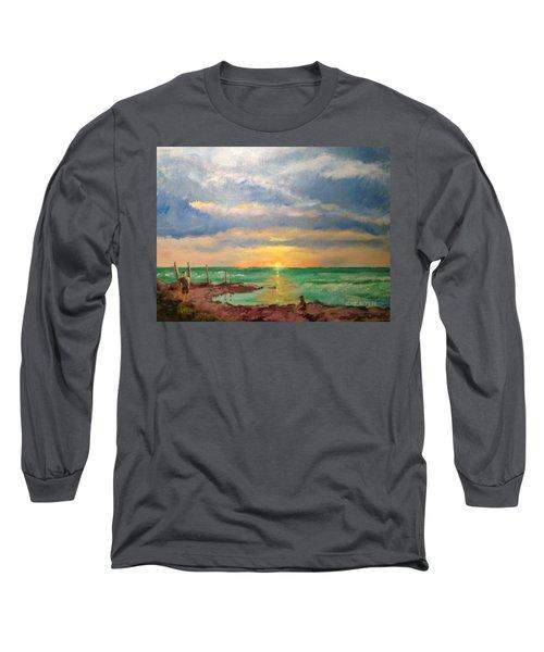 Beach End Of Day Long Sleeve T-Shirt