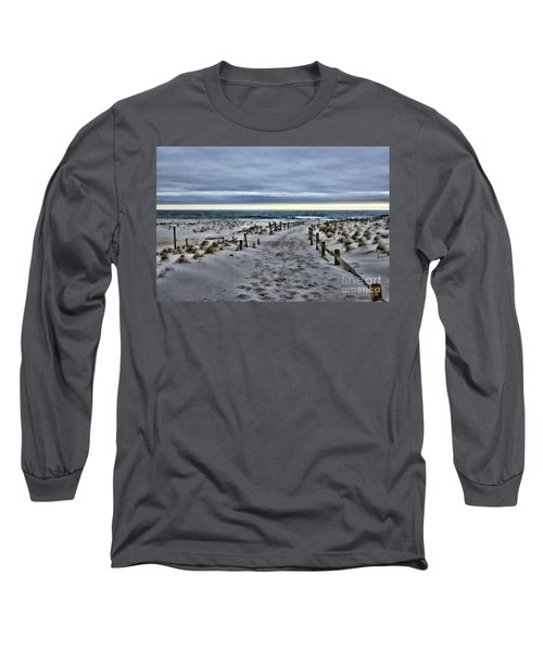 Long Sleeve T-Shirt featuring the photograph Beach Entry by Paul Ward