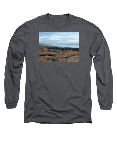 Beach Long Sleeve T-Shirt by Gene Cyr