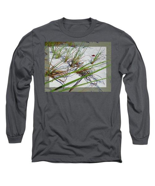 Beach Grass Long Sleeve T-Shirt by Ginny Schmidt