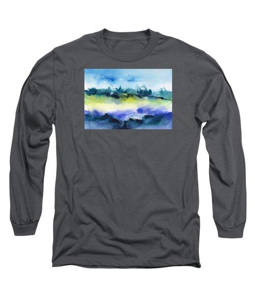 Beach Hut Abstract Long Sleeve T-Shirt by Frank Bright