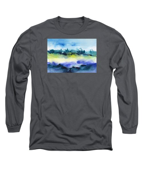Beach Hut Abstract Long Sleeve T-Shirt