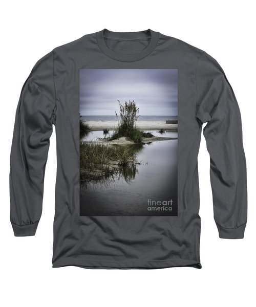Beach Island Long Sleeve T-Shirt by Judy Wolinsky