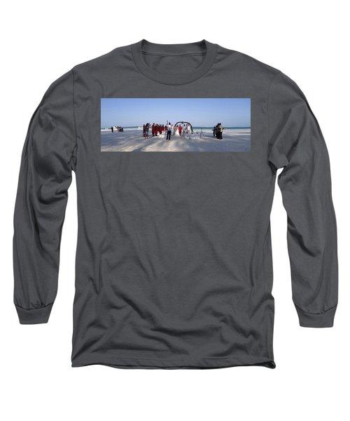 Beach Panoramic Wedding  Long Sleeve T-Shirt