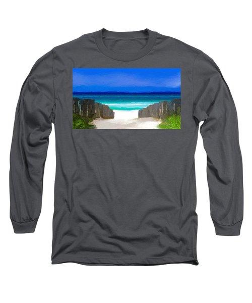 Beach Path Long Sleeve T-Shirt
