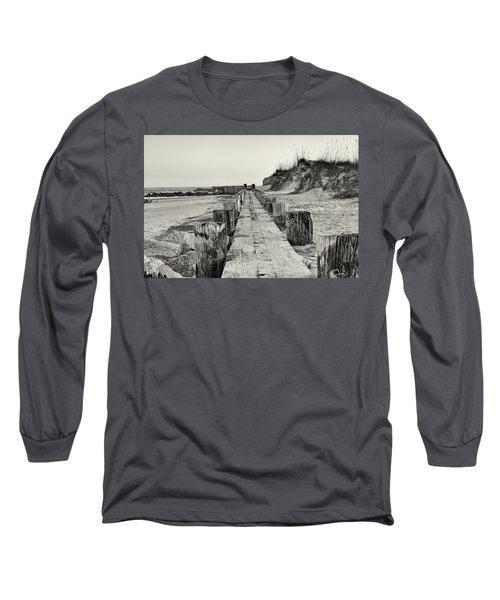Beach Pilings Long Sleeve T-Shirt