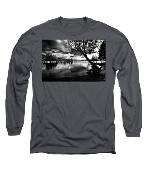Long Sleeve T-Shirt featuring the photograph Beach Silhouette by David Patterson
