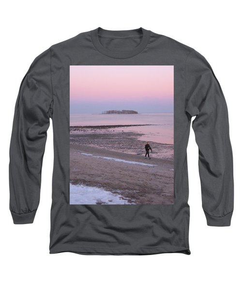 Long Sleeve T-Shirt featuring the photograph Beach Stroll by John Scates