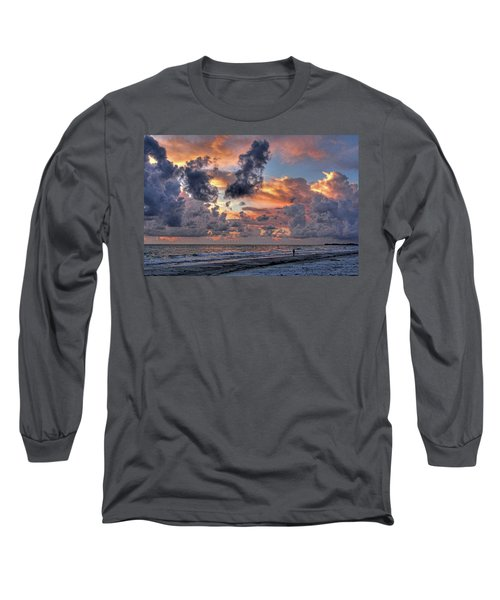 Beach Walk - Florida Seascape Long Sleeve T-Shirt