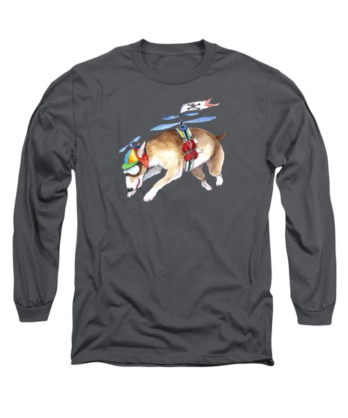 Beanie Bully  Long Sleeve T-Shirt by Jindra Noewi