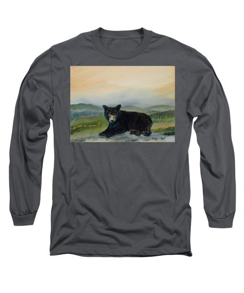 Bear Alone On Blue Ridge Mountain Long Sleeve T-Shirt