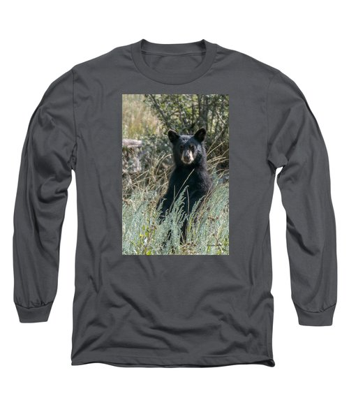 Bear Cub At Waterton Canyon Long Sleeve T-Shirt by Stephen  Johnson