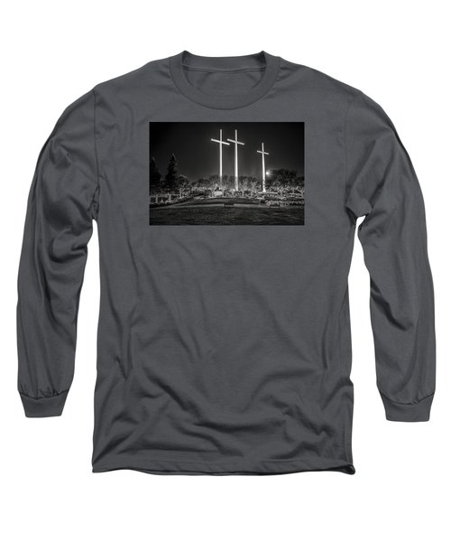 Long Sleeve T-Shirt featuring the photograph Bearing Witness In Black-and-white 2 by Andy Crawford