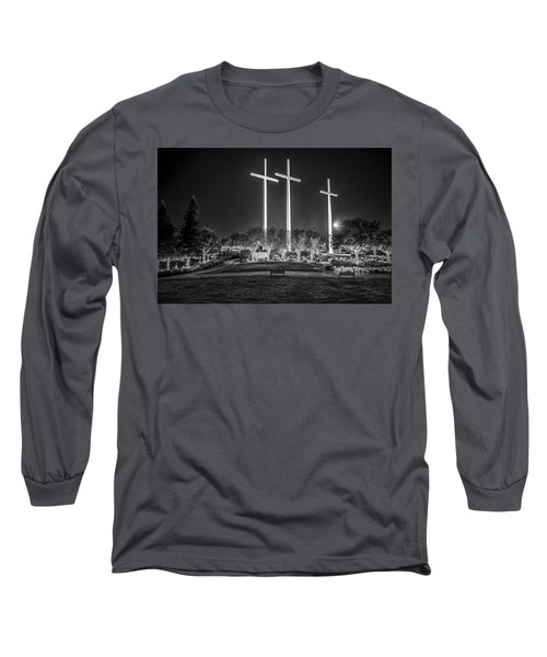 Long Sleeve T-Shirt featuring the photograph Bearing Witness In Black-and-white by Andy Crawford