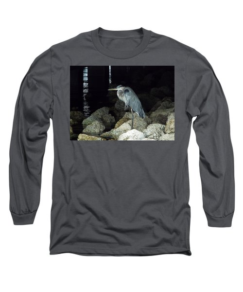 Beautiful And Patience Heron Long Sleeve T-Shirt