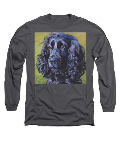 Long Sleeve T-Shirt featuring the painting Beautiful Black English Cocker Spaniel by Lee Ann Shepard