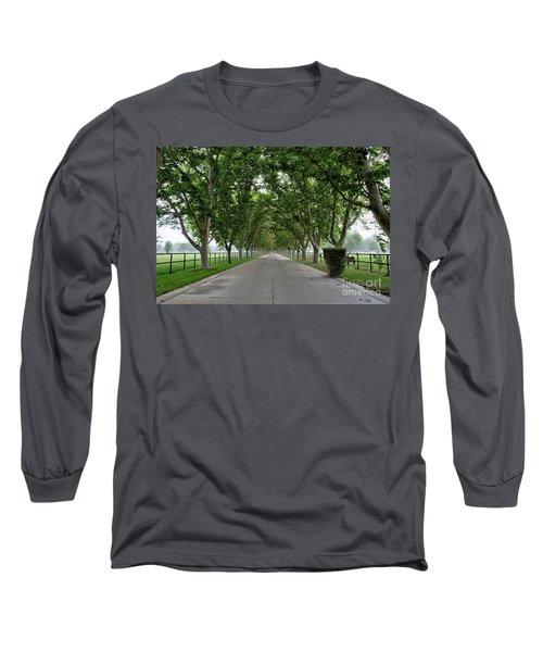 Entrance To River Edge Farm Long Sleeve T-Shirt