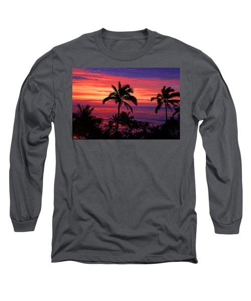 Beautiful Hawaiian Sunset Long Sleeve T-Shirt