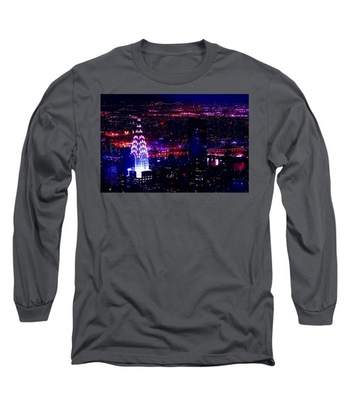 Beautiful Manhattan Skyline Long Sleeve T-Shirt by Az Jackson