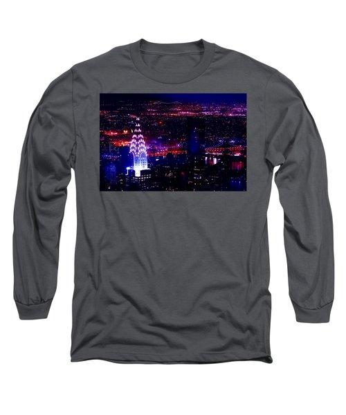 Beautiful Manhattan Skyline Long Sleeve T-Shirt
