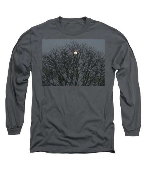 Beautiful Moon Long Sleeve T-Shirt by Sonali Gangane