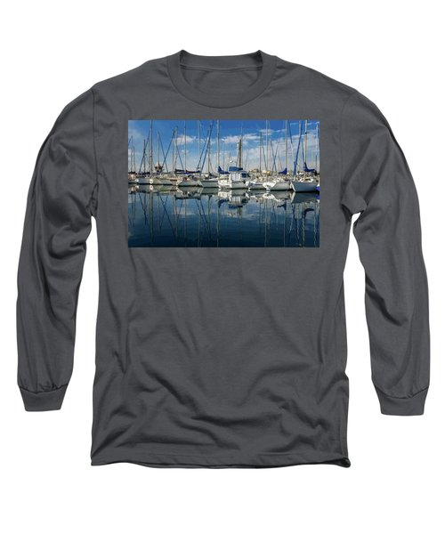 Beautiful Yachts Moored In The Marina Long Sleeve T-Shirt