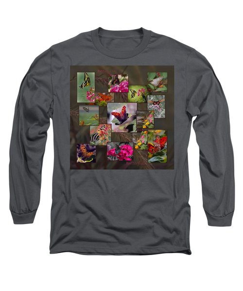 Beauty In Butterflies Long Sleeve T-Shirt by DigiArt Diaries by Vicky B Fuller