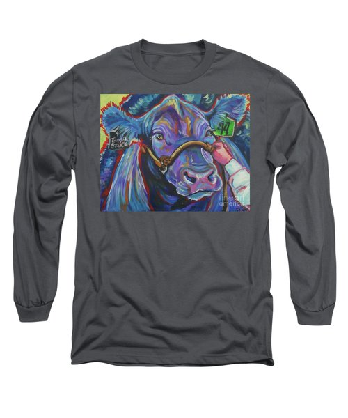Long Sleeve T-Shirt featuring the painting Beauty Queen by Jenn Cunningham