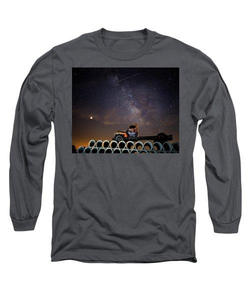Sleeping Alone Under The Stars  Long Sleeve T-Shirt
