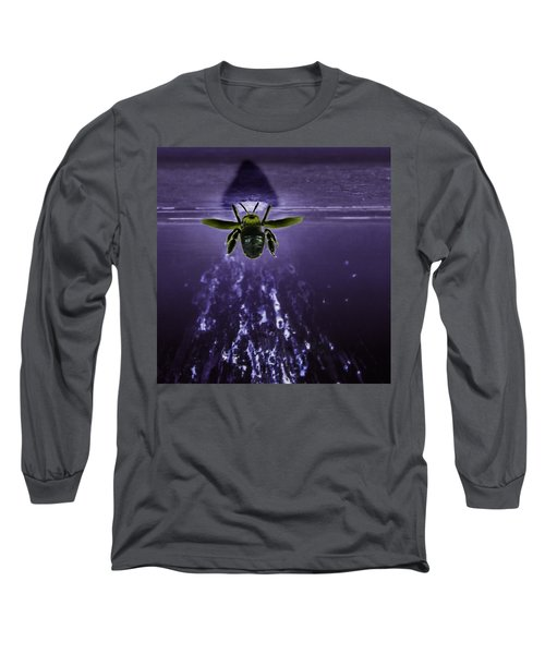 Bee Drilling Wood Long Sleeve T-Shirt