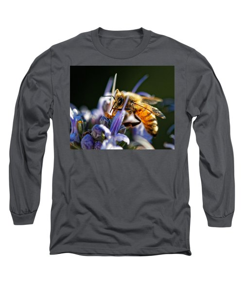 Bee Visits Rosemary  Long Sleeve T-Shirt