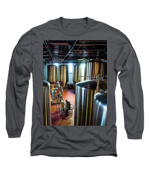 Long Sleeve T-Shirt featuring the photograph Beer Vats by Linda Unger
