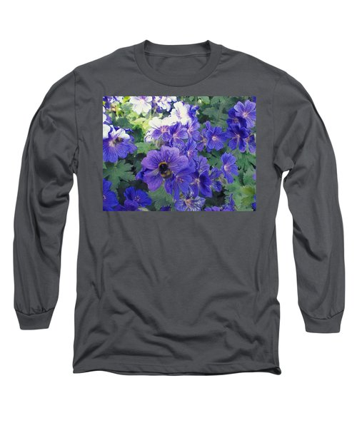 Bees And Flowers Long Sleeve T-Shirt