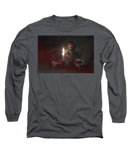 Long Sleeve T-Shirt featuring the photograph Beethoven By Candlelight by Tom Mc Nemar