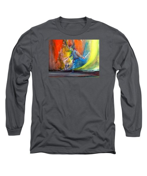 Long Sleeve T-Shirt featuring the painting Before The Duel by Kicking Bear  Productions