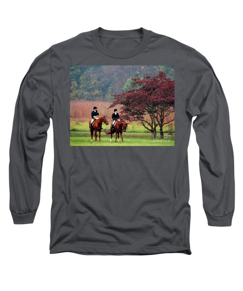 Before The Hunt Long Sleeve T-Shirt by Polly Peacock