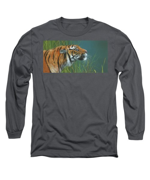 Long Sleeve T-Shirt featuring the painting Beggars Day by Mike Brown