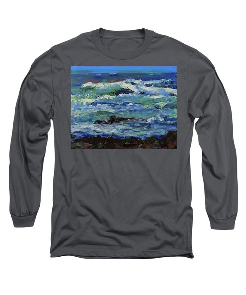 Long Sleeve T-Shirt featuring the painting Beginning Of A Storm by Walter Fahmy