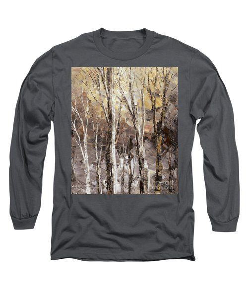 Long Sleeve T-Shirt featuring the painting Beginning by Tatiana Iliina