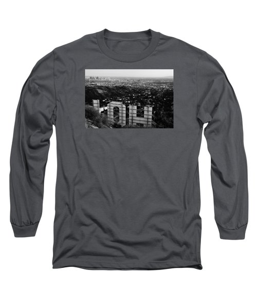 Behind Hollywood Bw Long Sleeve T-Shirt