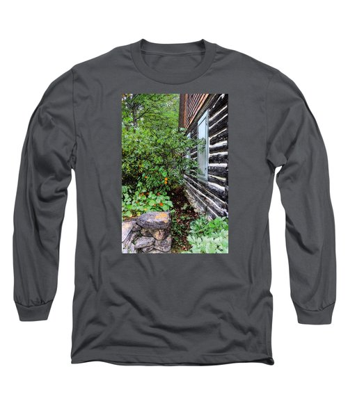 Behind The Dorm At The Clearing Long Sleeve T-Shirt by David Blank