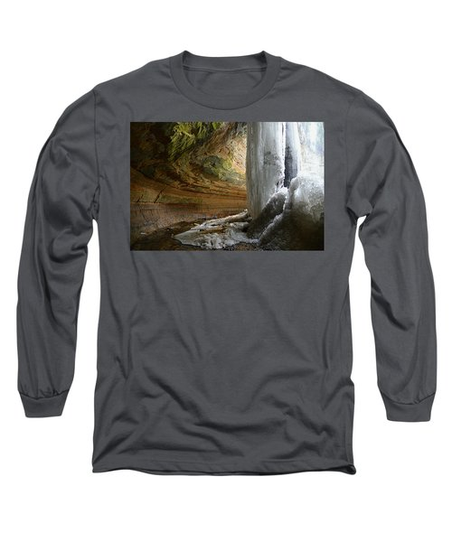 Behind The Ice Falls Long Sleeve T-Shirt