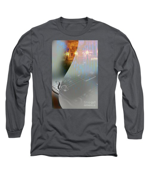 Long Sleeve T-Shirt featuring the painting Behind The Vail by Allison Ashton