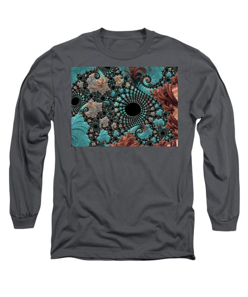 Bejeweled Fractal Long Sleeve T-Shirt by Bonnie Bruno
